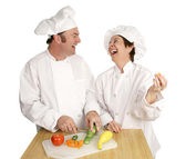 Fun in the Kitchen — Stock Photo