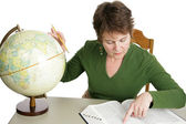 Geography Research — Stock Photo