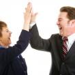 Business High Five — Stock Photo