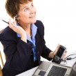 Businesswoman Works from Home — Stock Photo #6700871