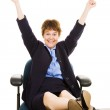 Businesswoman at desk - Overjoyed — Stock Photo #6700877