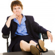 Businesswoman at Desk - Worried — Stock Photo #6700879