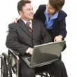 Disabled Businessman and Associate — Stock Photo #6700914