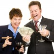 Greedy Business Partners — Stock Photo