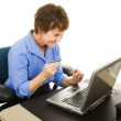 Online Shoping at Work — Stock Photo #6701002