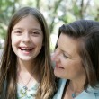 Mother Daughter Giggles — Stock Photo