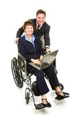 Business Partners - Disability — Stock Photo