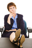 Businesswoman Thinks it Over — Stock Photo