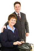 Court Reporter and Attorney — Stock Photo