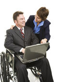 Disabled Businessman and Associate — Stock Photo