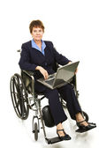 Disabled Businesswoman - Serious — Stock Photo