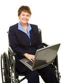 Friendly Disabled Businesswoman — Stock Photo