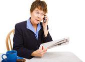 Job Hunting - Making Calls — Stock Photo