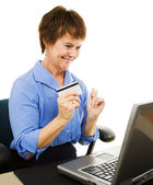 Mature Woman Internet Shopping — Stock Photo