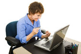 Online Shoping at Work — Stock Photo