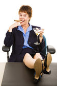 Successful Business Woman Relaxed — Stock Photo