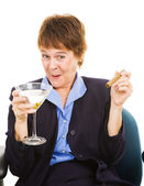 Tipsy at Work — Stock Photo