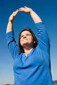 Plus Sized Fitness - Praise — Stock Photo