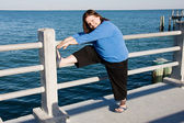 Stretching for Fitness — Stock Photo