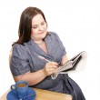 Businesswoman - Checking the Markets — Stock Photo