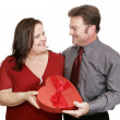 Valentine Candy Couple — Stock Photo