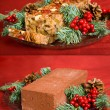 Fruitcake or Brick — Stock Photo