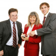 Business Team PDA — Stock Photo