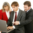 Business Teamwork Isolated - Stock Photo