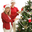 Decking the Halls Together - Stock Photo