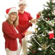 Decking the Halls Together — Stock Photo