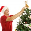 Decorating Christmas Tree - Treetop Angel — Stock Photo