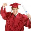 Enthusiastic Graduate — Stock Photo #6717568