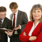 Female Executive & Team — Stock Photo #6717571