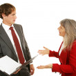 Mentor Series - Confrontation with Boss — Stock Photo
