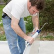 Caulking Project — Stock Photo