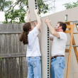 Father Daughter Home Improvement — Stockfoto