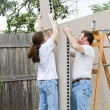 Stock Photo: Father Daughter Home Improvement