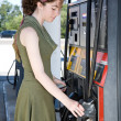 At the Gas Pump — Stock Photo
