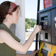 Stock Photo: Buying Gas