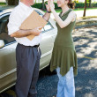 Drivers Test High Five — Stock Photo #6717870