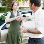 Driving Test Handshake — Stock Photo #6717881