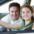 Royalty-Free Stock Photo: Driving with Dad