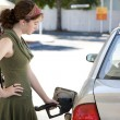 Foto Stock: Pumping Gas