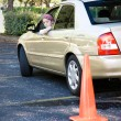 Teen Driving Test - Parking - Stock Photo