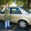 Teen's First Car — Stock Photo
