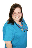 Beautiful Plus-sized Nurse — Stock Photo