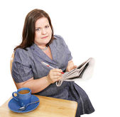 Businesswoman - Poor Job Market — Stock Photo