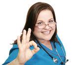Enthusiastic Nurse - AOkay — Stock Photo