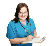 Nurse Takes Medical History — Stock Photo