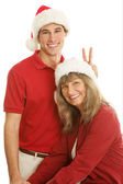 Christmas Portrait Goofing Around — Stock Photo